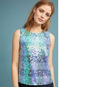 Anthropologie Amatheia Sequin Top new